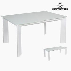 Ausziehbarer Tisch Ausziehtisch, weiß