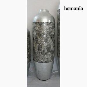 Dekovase Bambusvase, silber, 24 x 24 x 73 cm