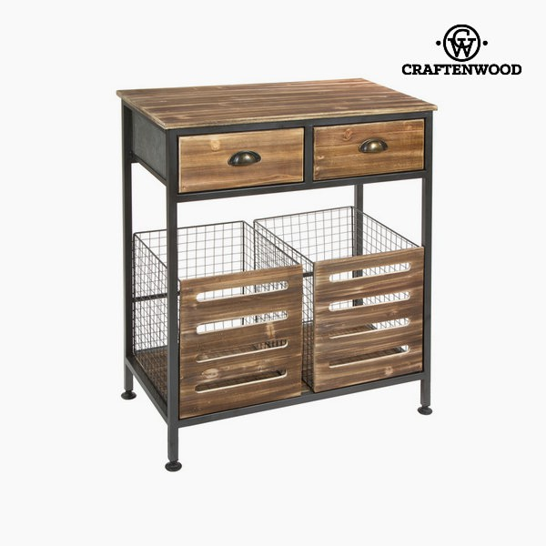 schr nkchen kommode im industrie style mit 2 schubladen und k rben. Black Bedroom Furniture Sets. Home Design Ideas