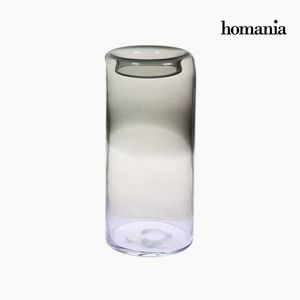 Dekovase aus Glas, grau, 14 x 14 x 31 cm