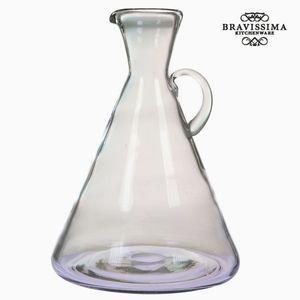 Dekokrug Dekovase aus Glas mit Griff, transparent, 21,7 x 21,7 x 31,5 cm