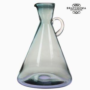 Dekokrug Dekovase aus Glas mit Griff, blau, 21,7 x 21,7 x 31,5 cm
