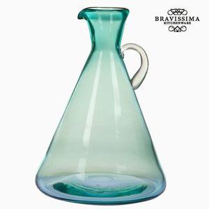 Dekokrug Dekovase aus Glas mit Griff, grün, 21,7 x 21,7 x 31,5 cm