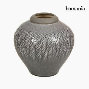 Dekovase aus Keramik, hellgrau, 28,5 x 28,5 x 27,5 cm