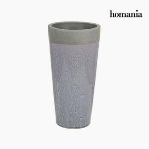 Dekovase aus Keramik, grau, 22 x 22 x 43 cm