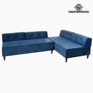 Chaiselounge Ecksofa, blau – Bild 2