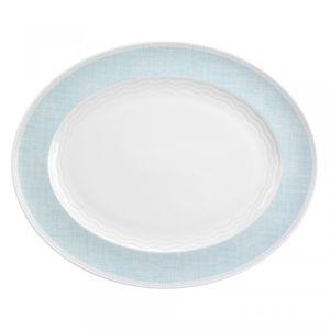 Platte oval 38 cm Marina 25261 »Canvas blue« von Seltmann Weiden