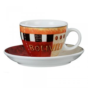 Cappuccinotasse 1131 V I P. 23299 »Bolivien« von Seltmann Weiden