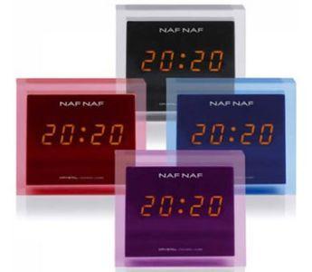NafNaf, Radio mit Alarmfunktion, Crystal, blau, FM PLL Digital Tuner, Orangefarbenes Display mit LED; Alarmfunktion, Snooze-/Sleep-Funktion, blau