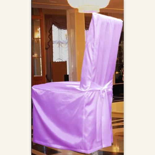 Stuhlhusse Stuhlbezug mit SCHLEIFE aus SATIN NEU – Bild 1