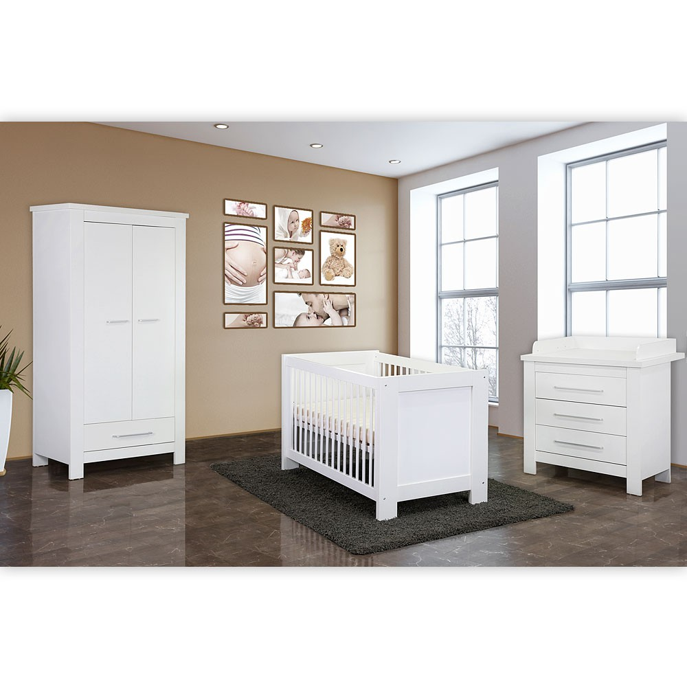babyzimmer 4 tlg enni mit 2 t rigem kleiderschrank in wei baby m bel babyzimmer. Black Bedroom Furniture Sets. Home Design Ideas