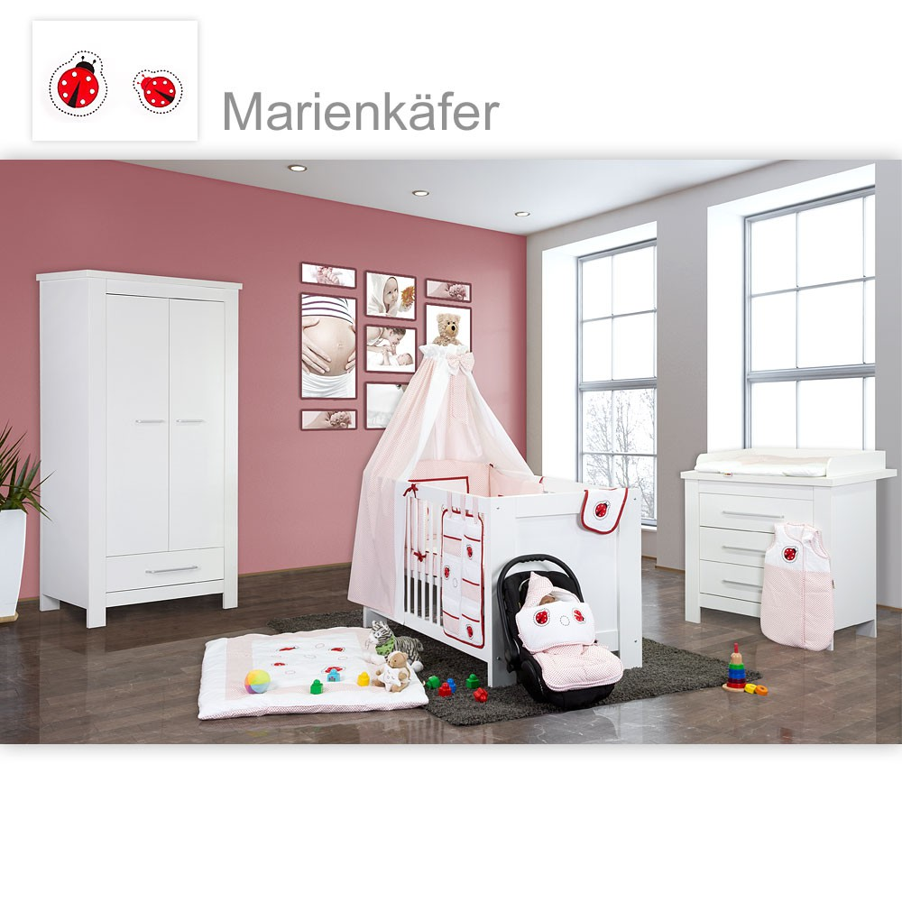 babyzimmer 19 tlg kinderzimmer m bel textilien. Black Bedroom Furniture Sets. Home Design Ideas