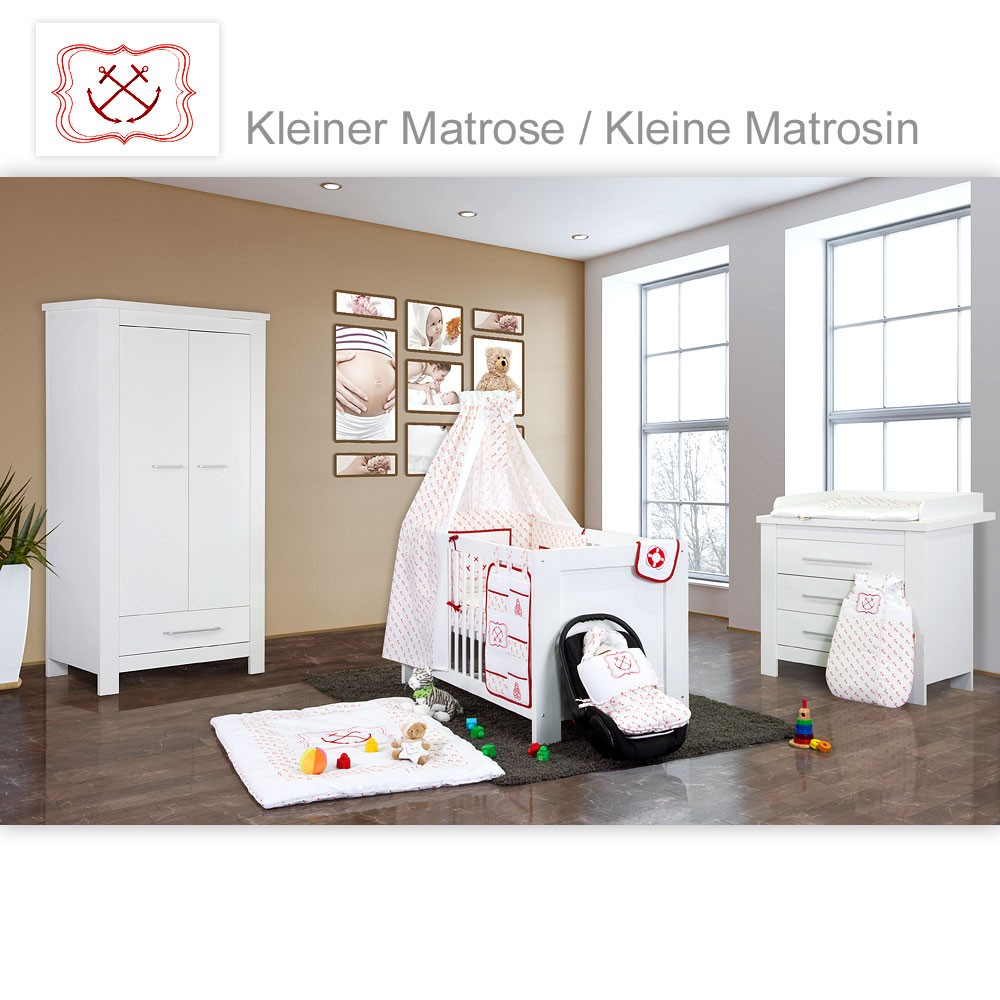 babyzimmer kinderzimmer enni matt oder hochglanz mit 2. Black Bedroom Furniture Sets. Home Design Ideas