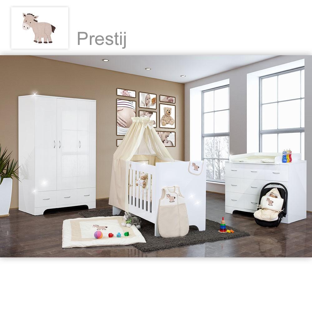 Hochglanz Babyzimmer 12 Tlg. Mit Prestij In Beige