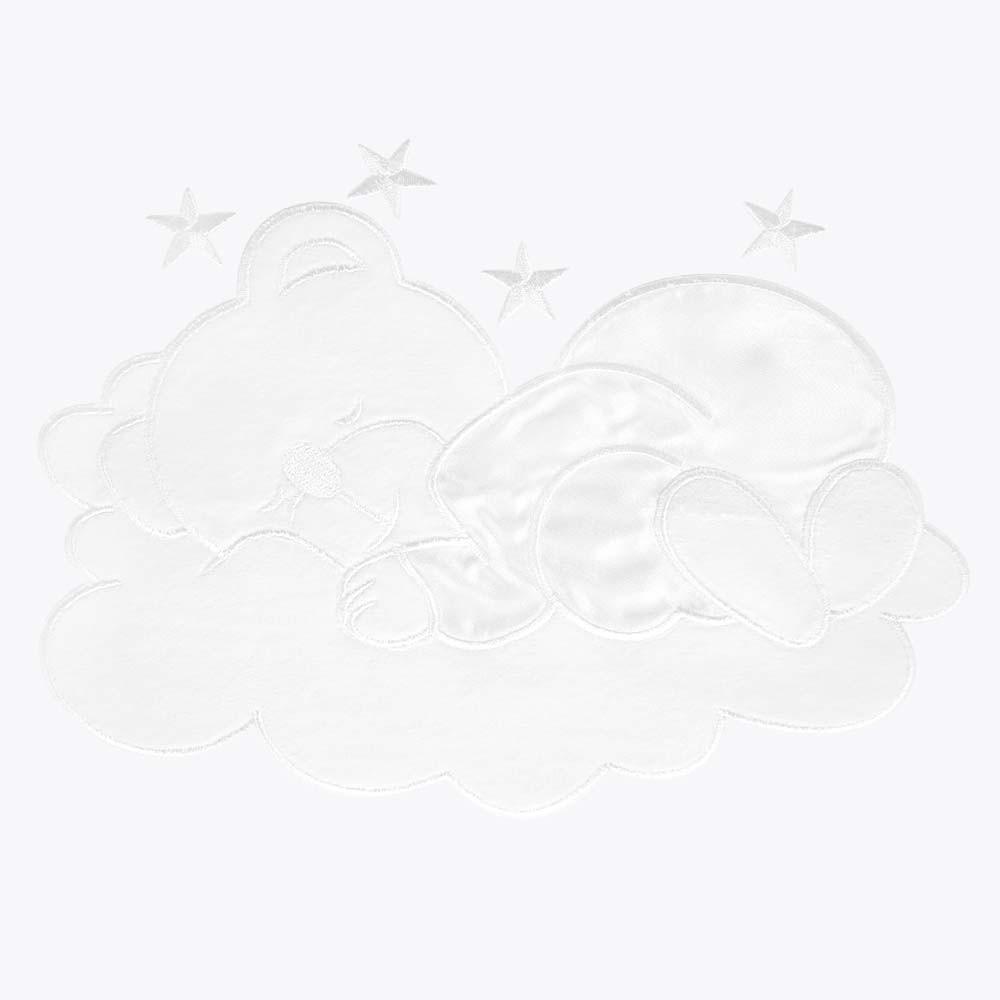 5-tlg. Babybettset Sleeping Bear in Weiß – Bild 6