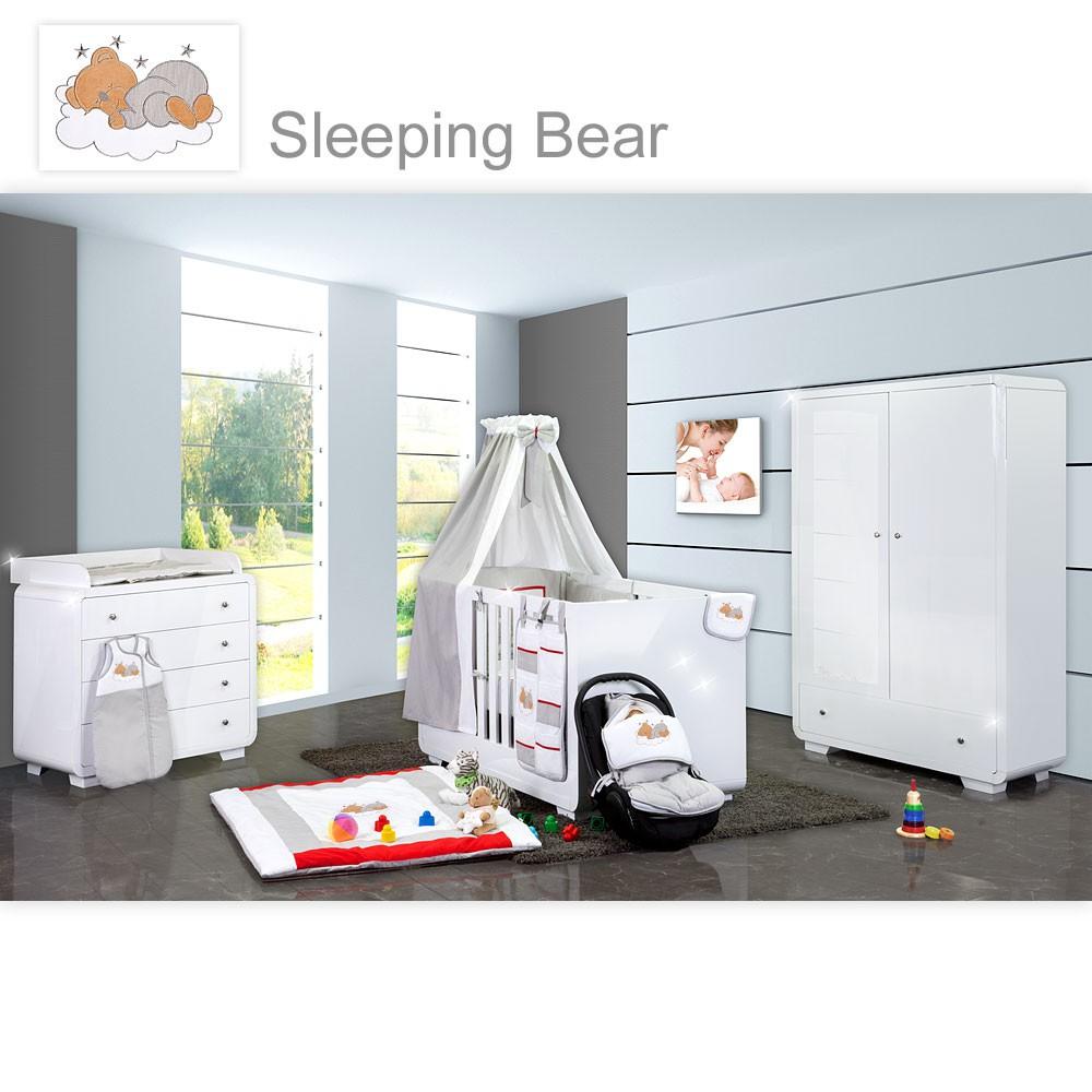 Hochglanz Kinderzimmer Yves mit 2-türigem Kleiderschrank + kl ...