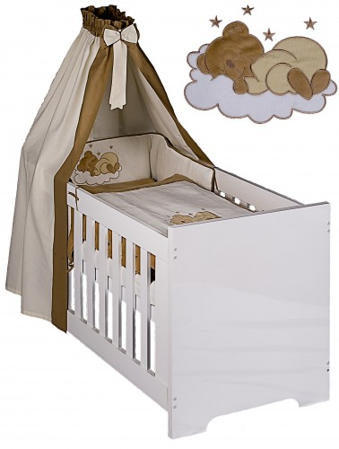 Babyzimmer Deniz In Blau Mit Textilien In Sleeping Bear Nicki Beige