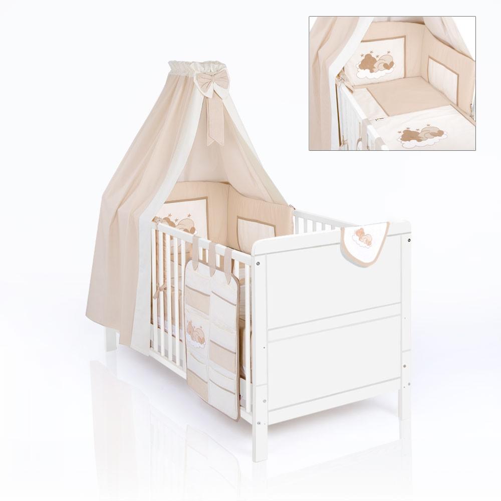 Set:Baby U.Kinderbett NATURA Weiss Mit Bettset Sleeping