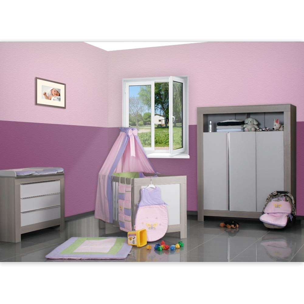 babyzimmer felix in akaziengrau 19 tlg mit 3 t rigem kl. Black Bedroom Furniture Sets. Home Design Ideas