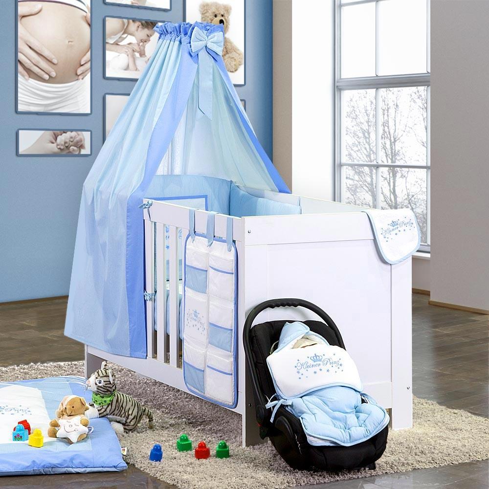 8 Tlg Babybettset Von Kleiner Prinz Inkl Betttasche Kissen Und
