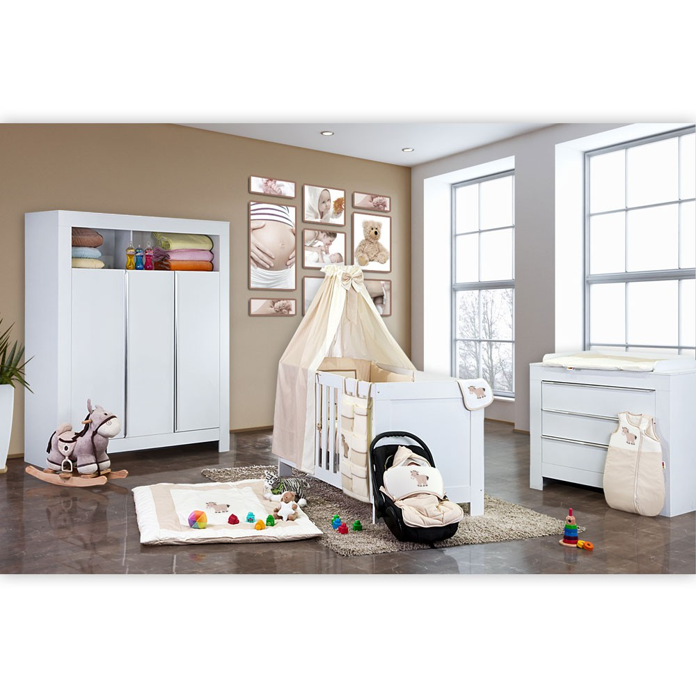 babyzimmer kinderzimmer felix in wei oder akaziengrau. Black Bedroom Furniture Sets. Home Design Ideas