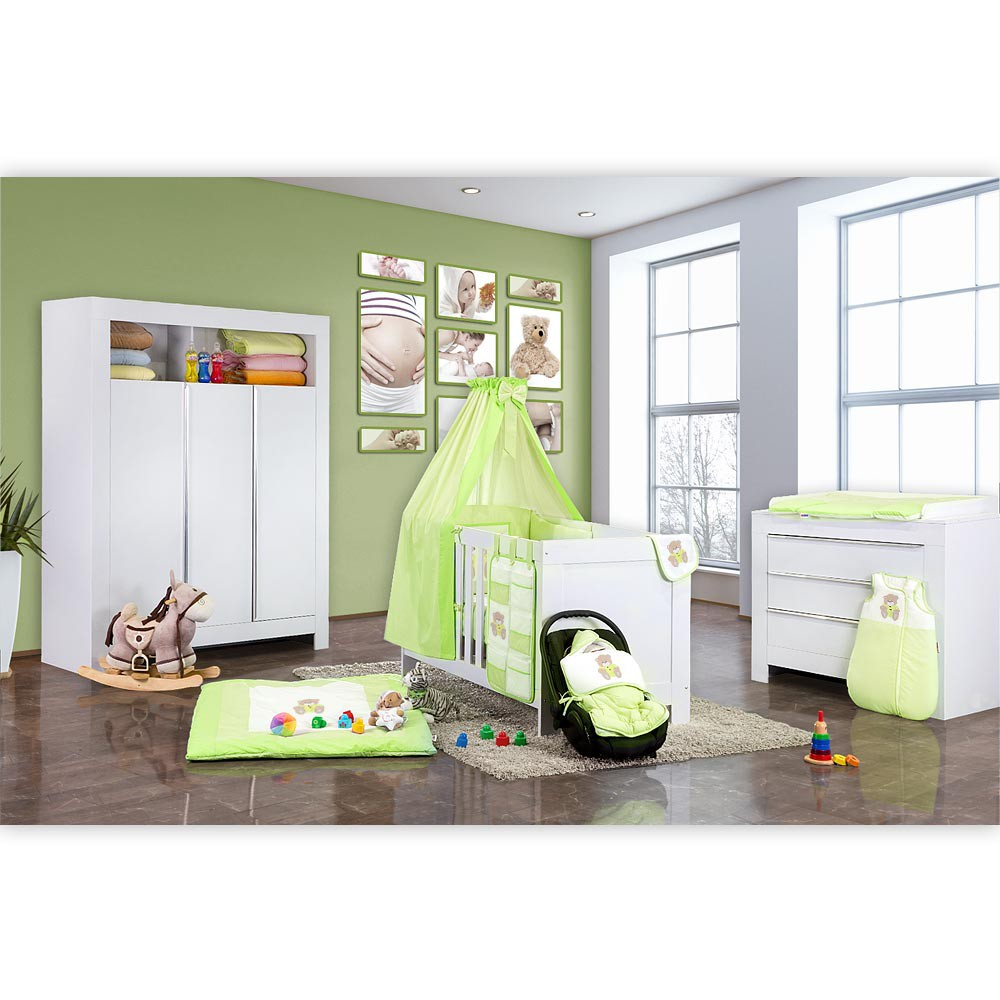 babyzimmer kinderzimmer felix in wei oder akaziengrau baby m bel babyzimmer. Black Bedroom Furniture Sets. Home Design Ideas