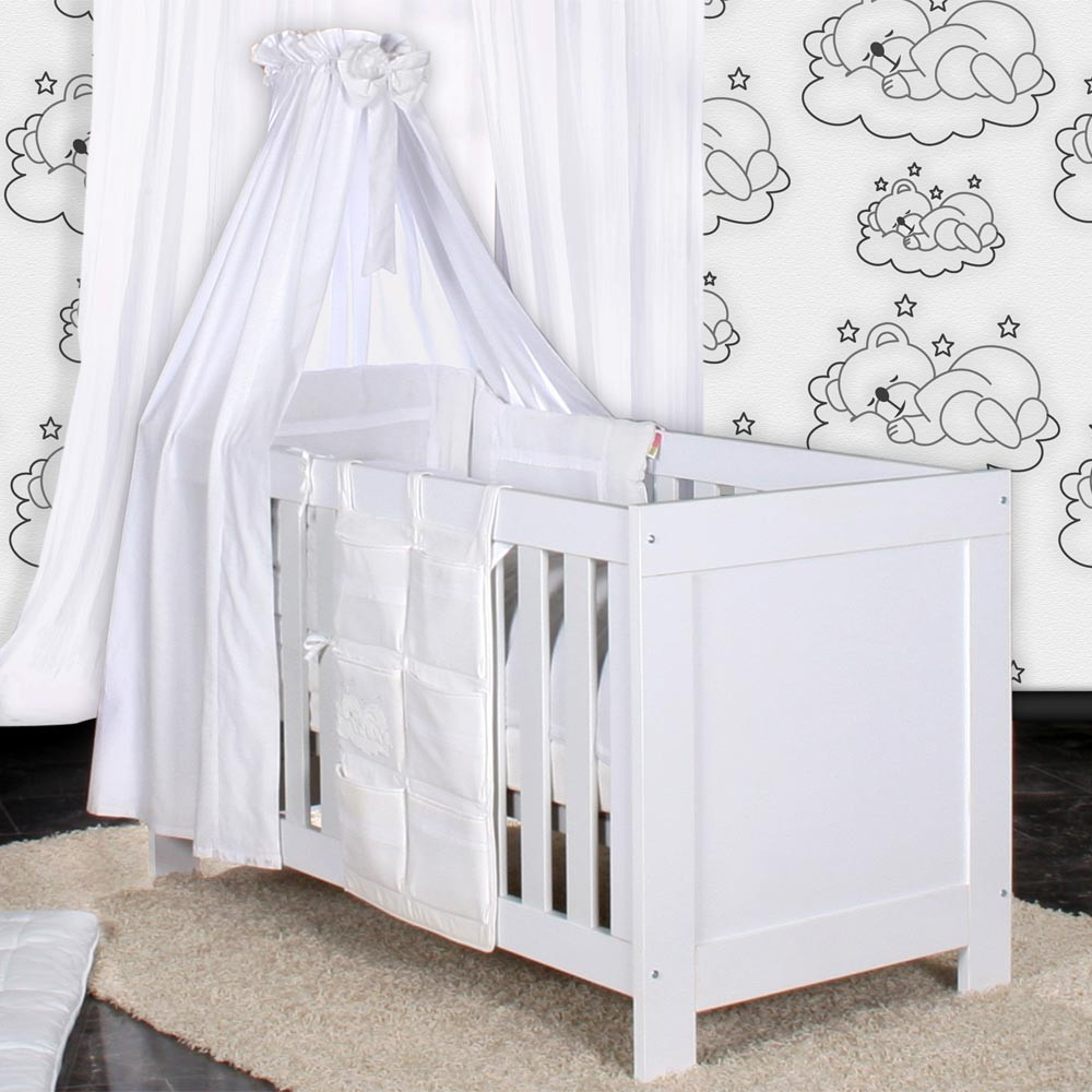 babyzimmer felix in weiss grau mit 3 t rigem kl 19 tlg sleeping bear weiss baby m bel. Black Bedroom Furniture Sets. Home Design Ideas