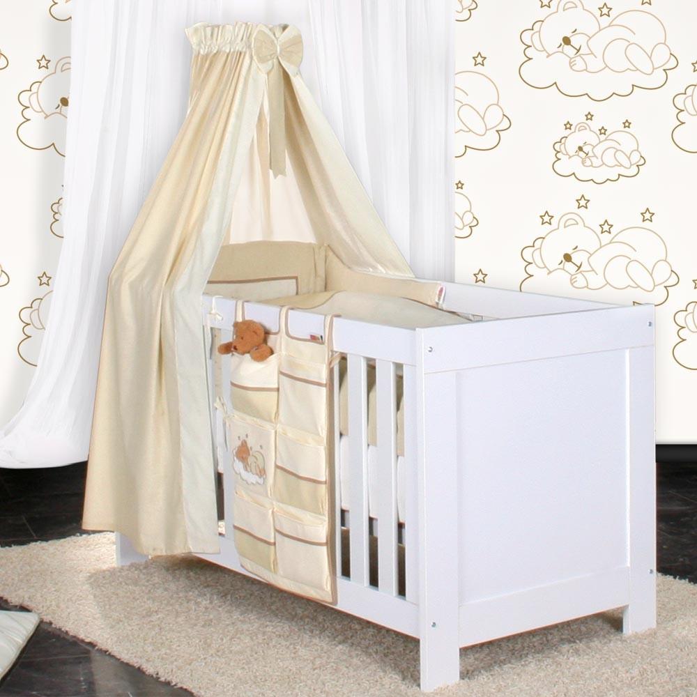 Babyzimmer Felix In Weiss/rosa Mit 3 Türigem Kl 19 Tlg. + Sleeping Bear