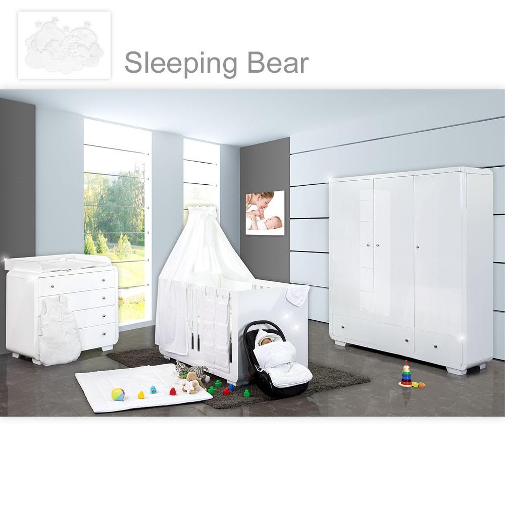 Babyzimmer Yves 21 Tlg Mit 3 Turigem Schrank Gr Bett Set