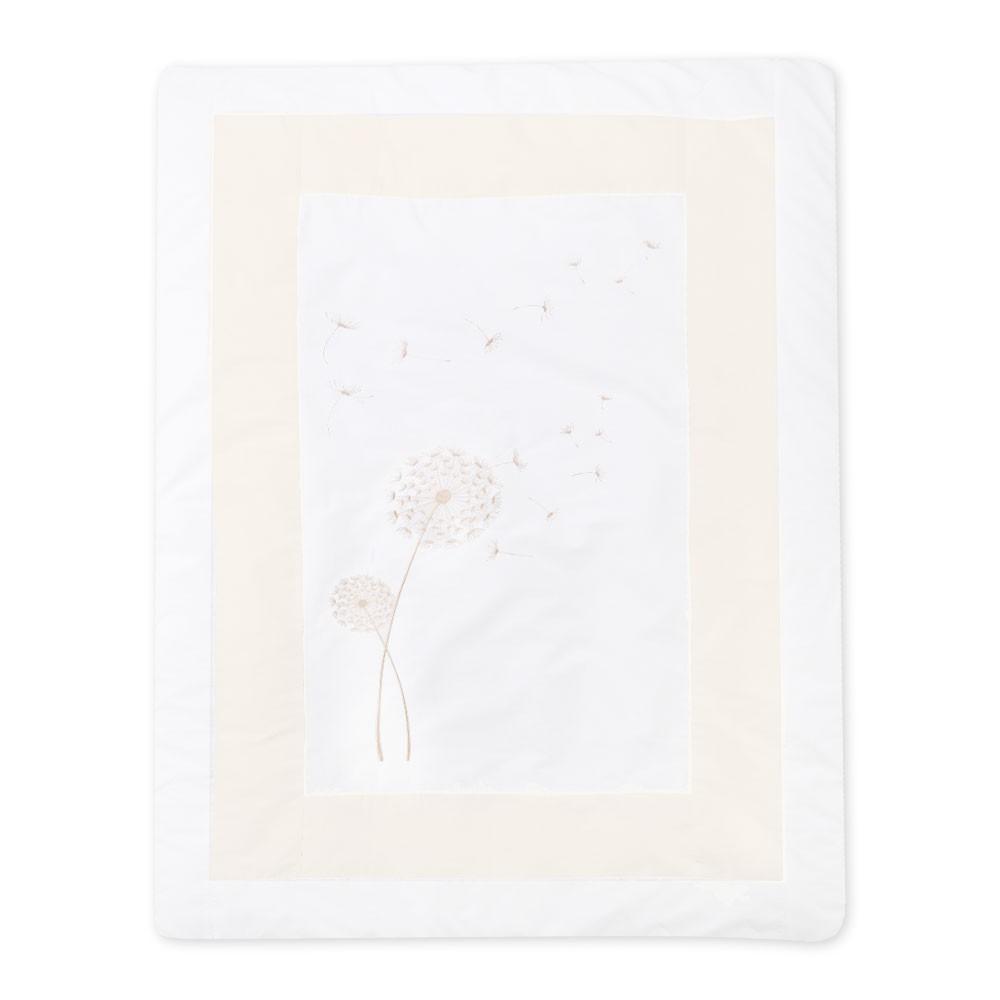 Krabbel- und Spieldecke Elegance in Weiß