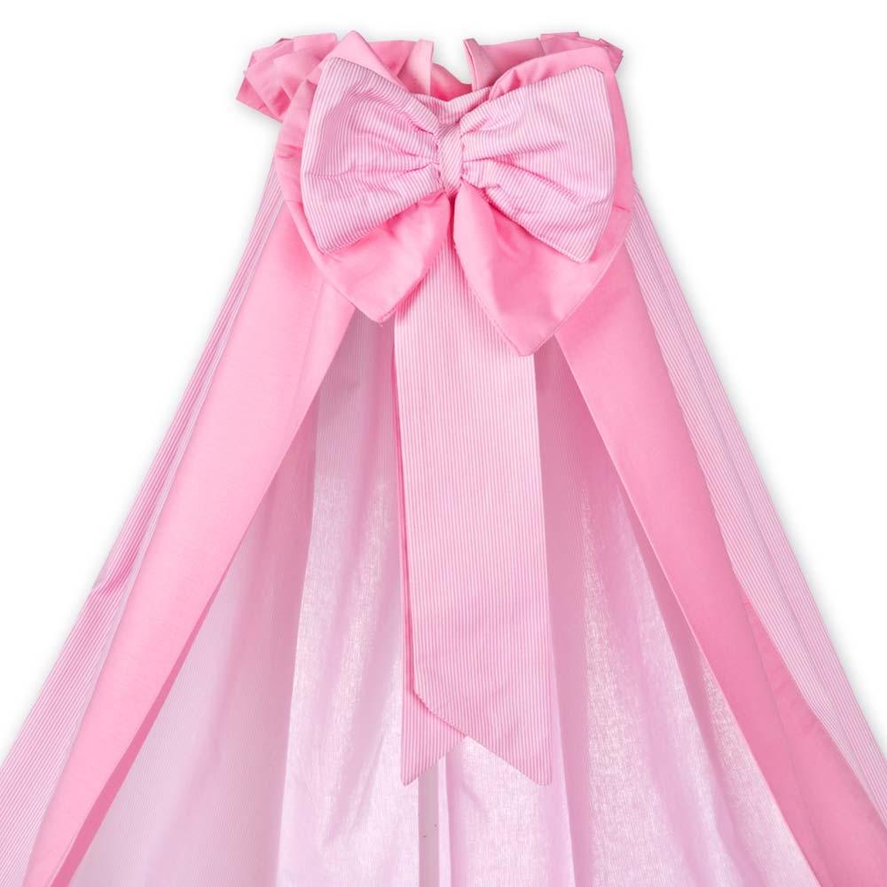 Rosa oder Cream Babybettset Kleiner Prinz oder Kleine Prinzessin in Blau 5-tlg