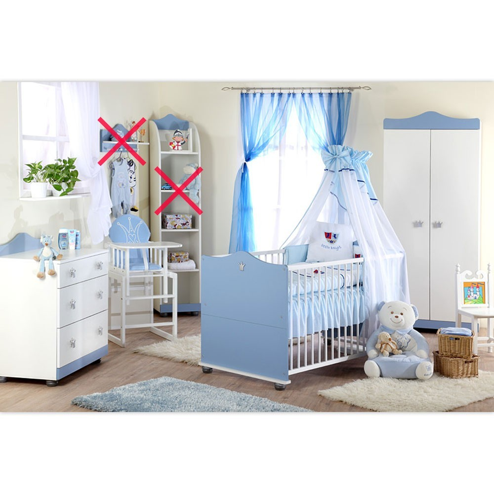babyzimmer kleiner prinz schrank kommode bett und lattenrost ebay. Black Bedroom Furniture Sets. Home Design Ideas