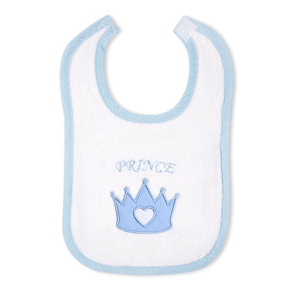Babylätzchen Prince oder Princess in Rosa oder Blau