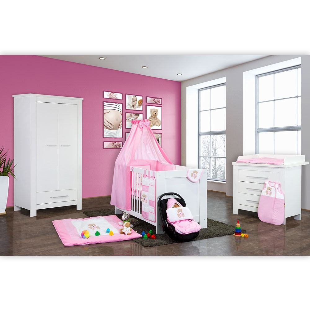 babyzimmer 21 tlg enni weiss mit 2 t rigem kl duisburg. Black Bedroom Furniture Sets. Home Design Ideas