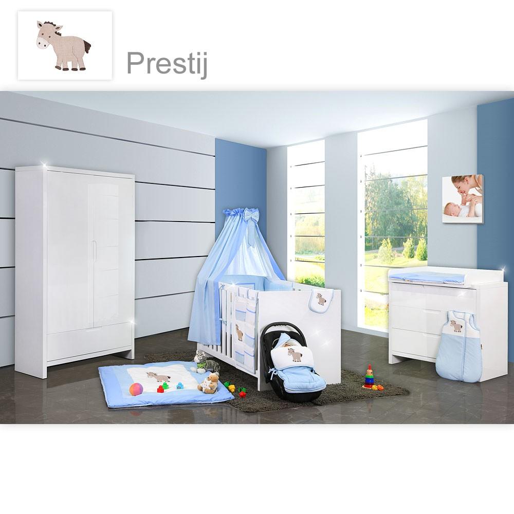 Babyzimmer luiy hochglanz 11 tlg mit 2 t rigem kl - Babyzimmer blau ...