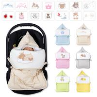 Baby Fußsack Multisack Einlegedecke 100% Baumwollein 39 verschieden Motiven 001