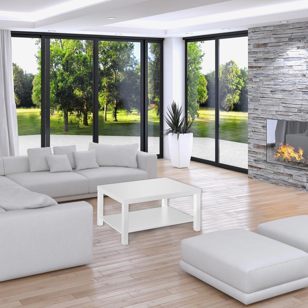 couchtisch in weiss 90x65cm beistelltisch sofatisch wohnzimmertisch neu ebay. Black Bedroom Furniture Sets. Home Design Ideas