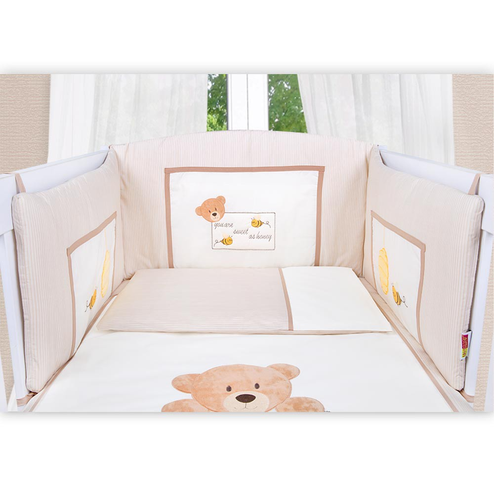 babyzimmer yves 21 tlg mit 3 t rigem schrank gr bett set von honey bear beige baby m bel. Black Bedroom Furniture Sets. Home Design Ideas