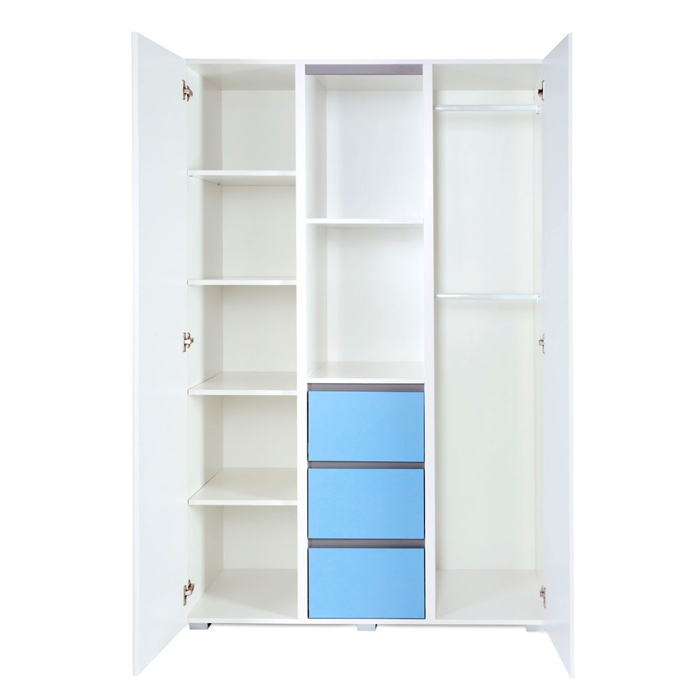 kleiderschrank 3 t rig dalia blue ebay. Black Bedroom Furniture Sets. Home Design Ideas