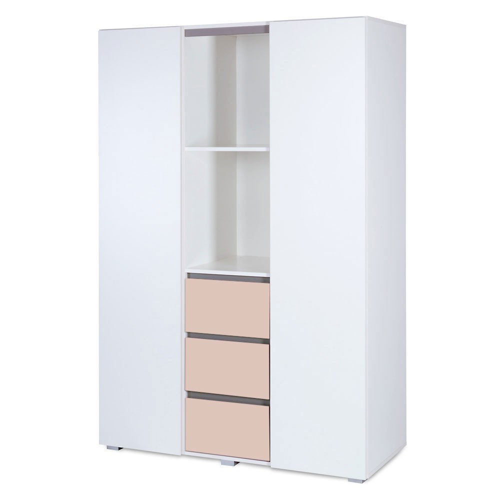 kleiderschrank 3 t rig dalia beige baby m bel kleiderschr nke. Black Bedroom Furniture Sets. Home Design Ideas
