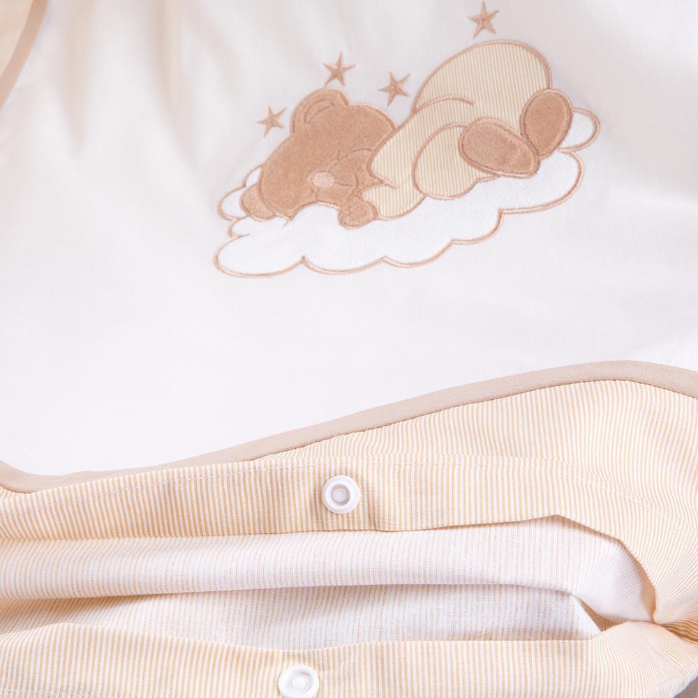 Bettset 5-tlg. für die Babywiege Schaukelwiege Sleeping Bear in Beige – Bild 4
