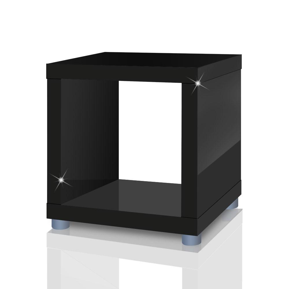 beistelltisch w rfel schwarz energiemakeovernop. Black Bedroom Furniture Sets. Home Design Ideas