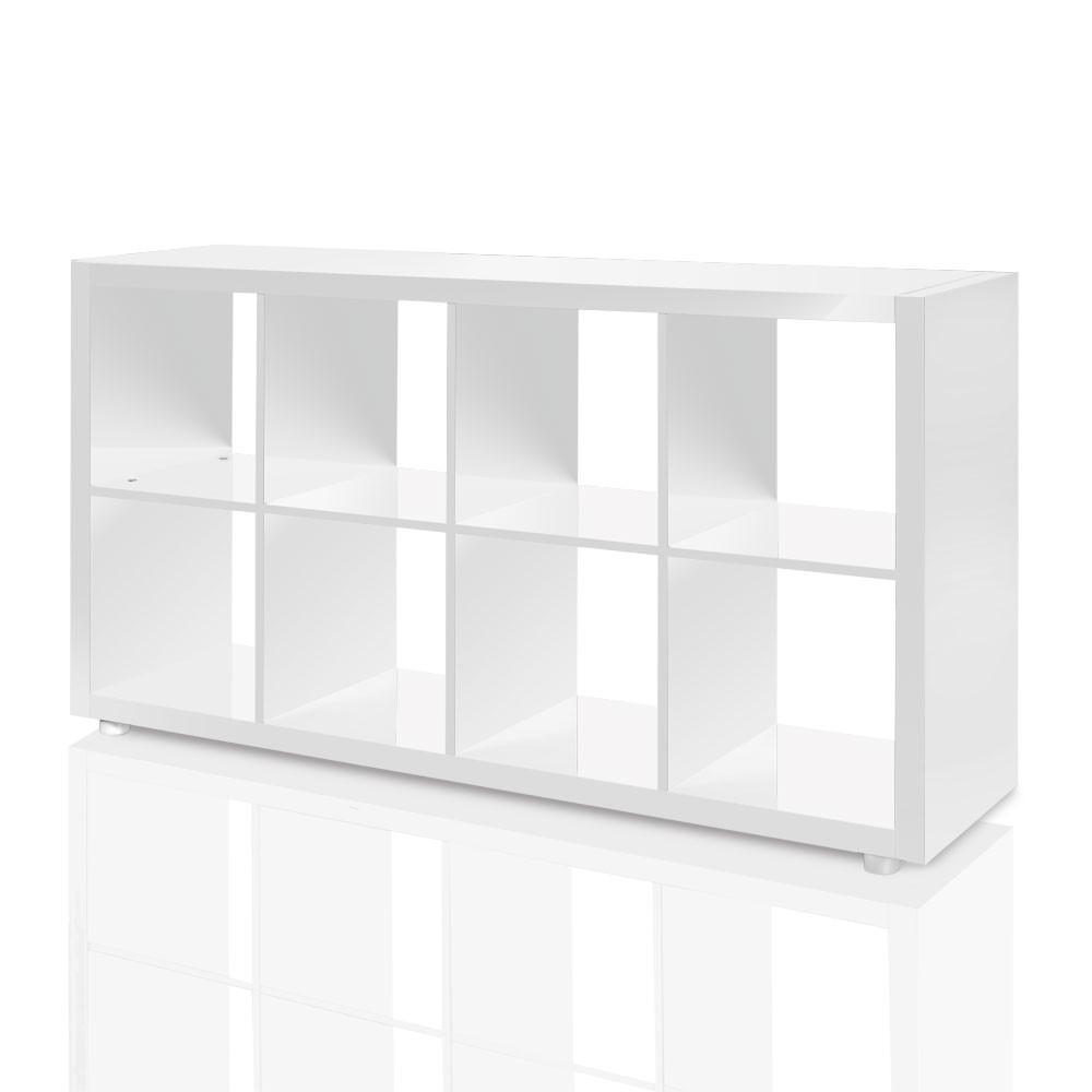 Raumteiler Mexx Bücherregal Regal 8 Fächer Hochglanz Weiss