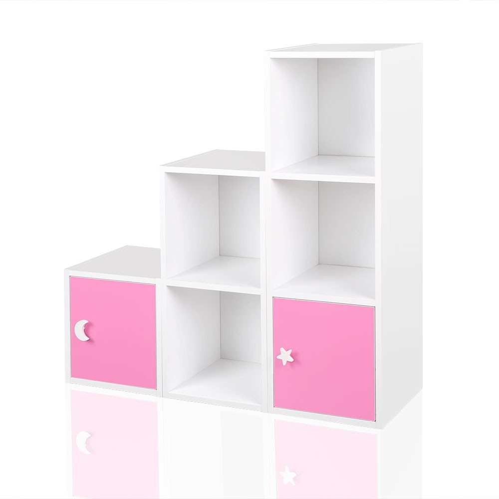 regal kinderregal treppenregal raumteiler stufenregal b cherregal standregal rosa baby m bel regale. Black Bedroom Furniture Sets. Home Design Ideas
