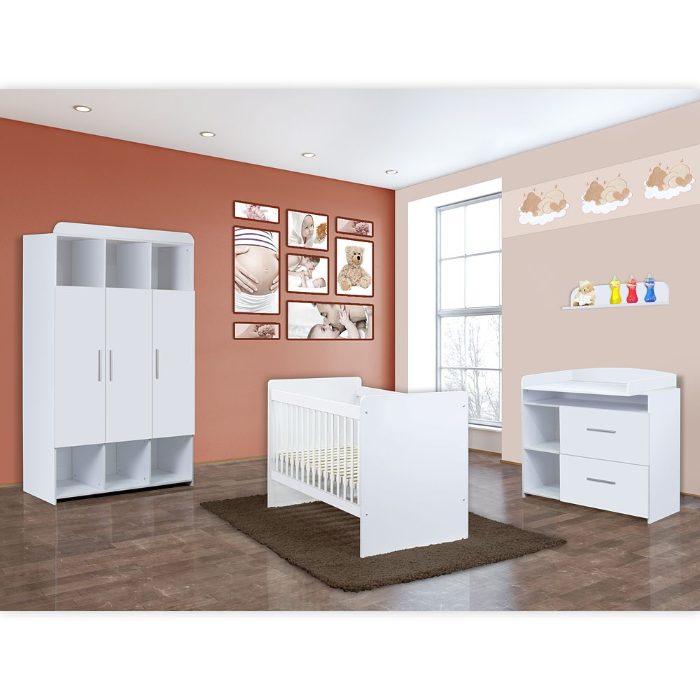 babyzimmer mexx 5 tlg in der farbe weiss mit 3 t rigem. Black Bedroom Furniture Sets. Home Design Ideas