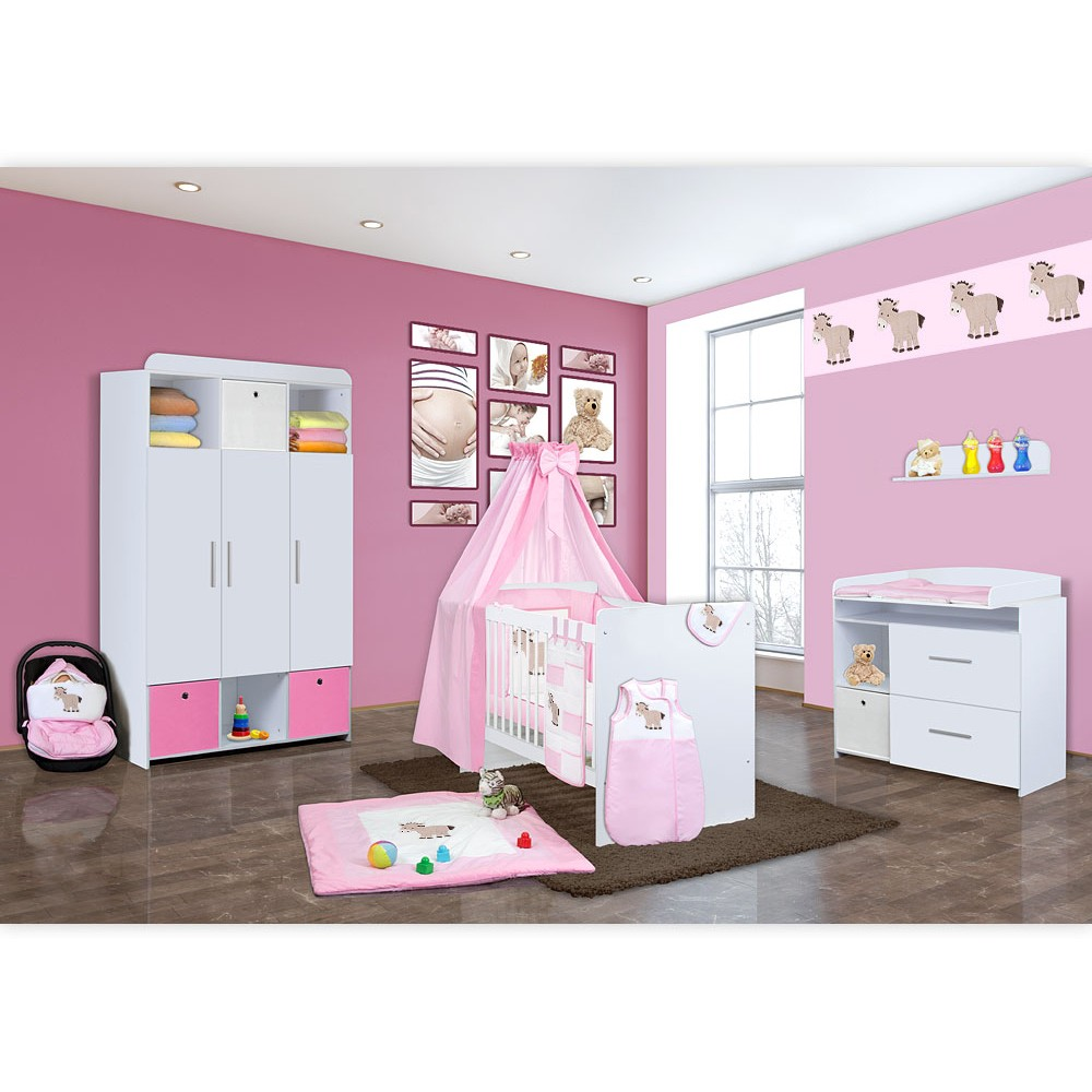 babyzimmer mexx in wei 11 tlg mit 3 t rigem kl. Black Bedroom Furniture Sets. Home Design Ideas