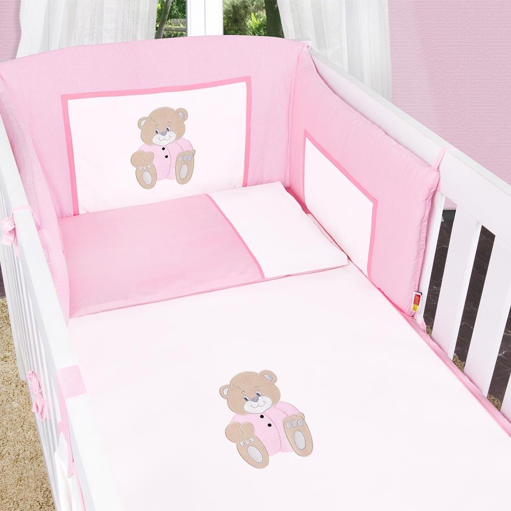 Babyzimmer Mexx in Weiss Hochglanz 11 tlg. mit 3 türigem Kl. + Memi Bear Rosa – Bild 5