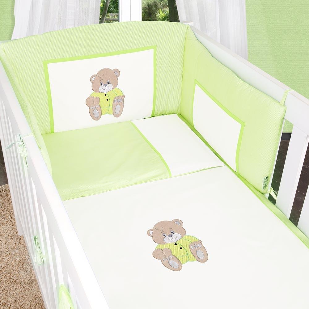 Babyzimmer Mexx in Weiss Hochglanz 11 tlg. Mit 3 türigem Kl. + Memi Bear Grün – Bild 5