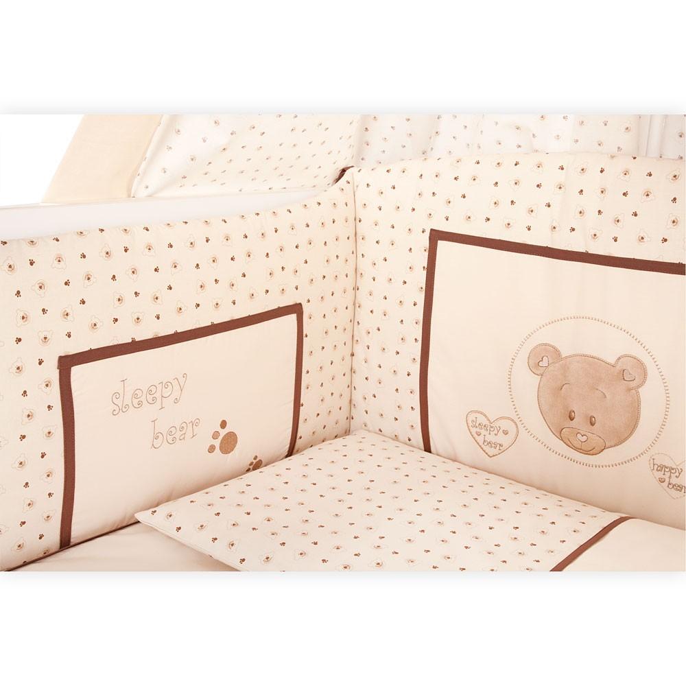 Babyzimmer Mexx in Weiss Hochglanz 11 tlg. mit 3 türigem Kl. + Cute Bear Beige – Bild 4