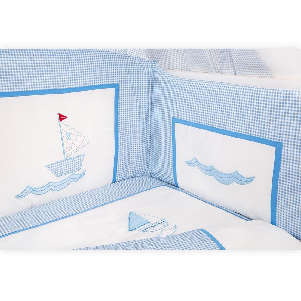 Babyzimmer Mexx in Weiss Hochglanz 11 tlg. mit 3 türigem Kl. + Marine Blau – Bild 5